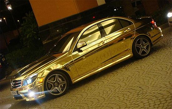 gold-mercedes-benz-c63